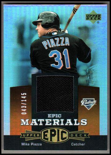 Photo of 2006 Upper Deck Epic Materials Dark Orange #MP1 Mike Piazza Jsy/145