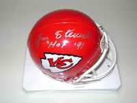 HOF - CHIEFS JAN STENERUD SIGNED CHIEFS MINI HELMET