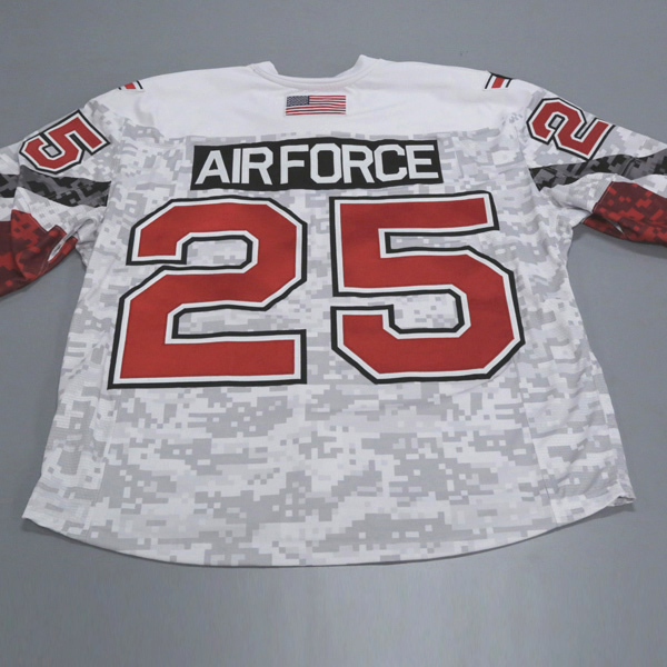 """Photo of Ohio State Ice Hockey Military Appreciation Jersey #25 """"Air Force"""" / Size 56"""