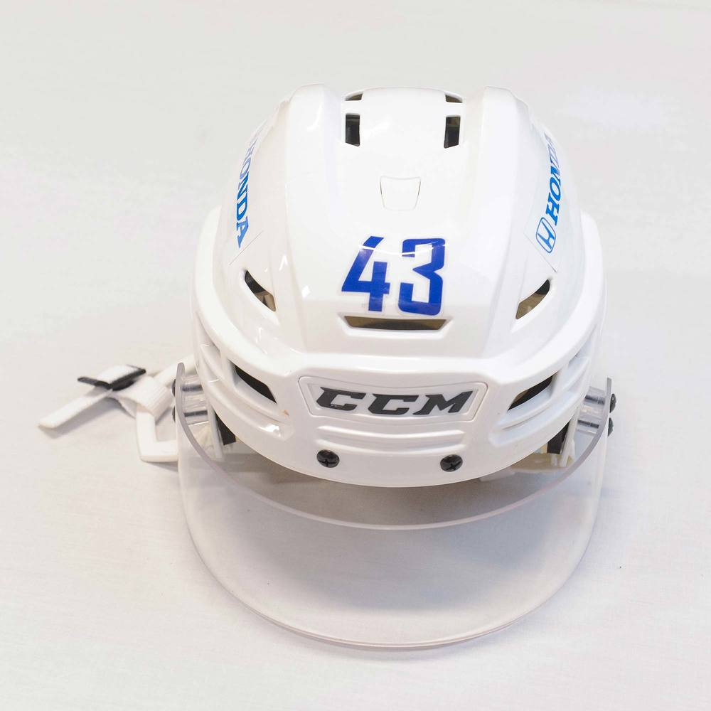 2018 AHL All-Star Challenge Helmet Worn and Signed by #43 TJ Brennan