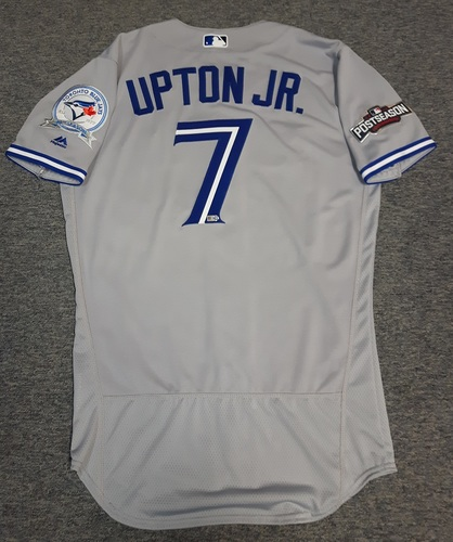 Photo of Authenticated Team Issued Jersey - #7 Melvin Upton Jr. (2016 Postseason). Size 42