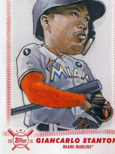 Photo of 2018 Topps Big League Star Caricature Reproductions #SCRGS Giancarlo Stanton