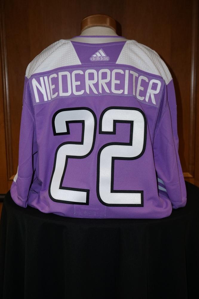 detailed look 4a62e 3be81 Nino Niederreiter Minnesota Wild 2018-19 HFC Warm-Up Jersey ...