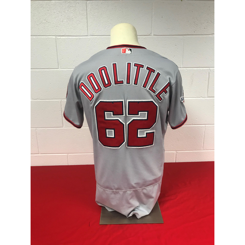 Photo of Sean Doolittle Game-Used 2018 Road Grey Jersey with All Star Game Patch