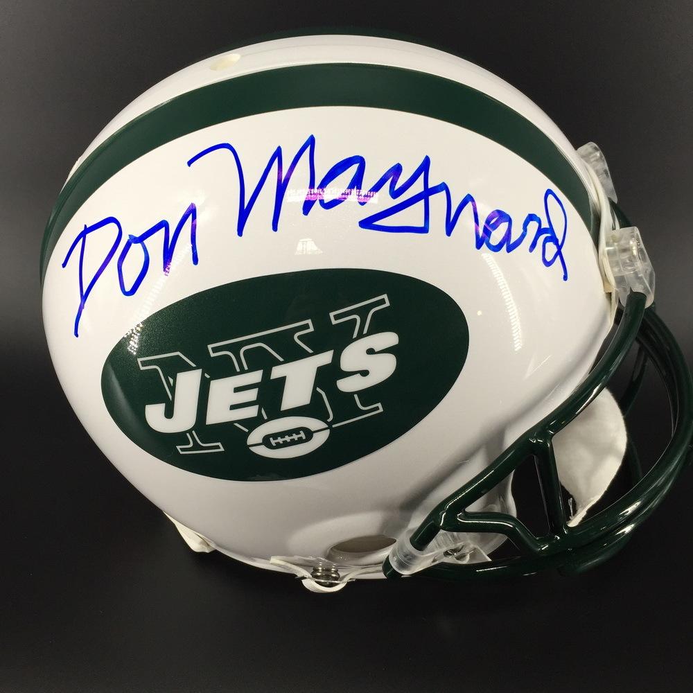 HOF - Jets Don Maynard Signed Proline Helmet