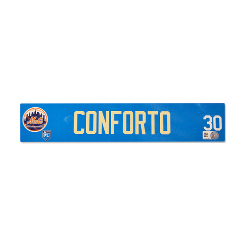 Photo of Michael Conforto #30 - Team Issued 2018 Spring Training Locker Nameplate - 2018 Spring Training