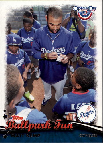 Photo of 2013 Topps Opening Day Ballpark Fun #BF5 Matt Kemp