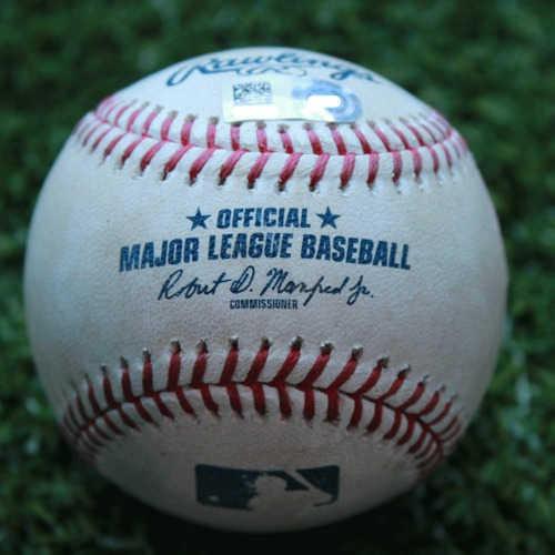 Photo of Game-Used Baseball: Odubel Herrera 16th Career Triple (PHI @ KC - 5/11/19)