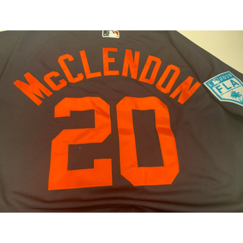 Photo of Team-Issued Lloyd McClendon Road Spring Training Jersey