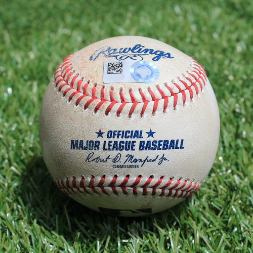 Game-Used Baseball: Nelson Cruz 1631st Career Hit and 1046th and 1047th Career RBIs (MIN @ KC - 6/21/19)