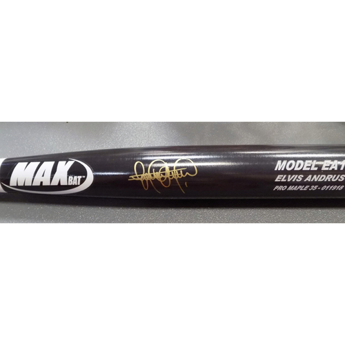 Photo of Elvis Andrus Autographed Bat