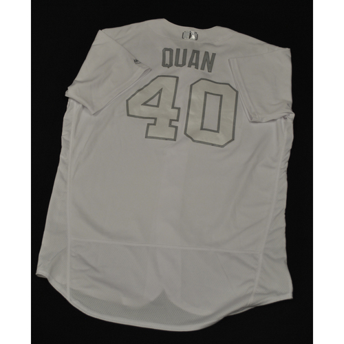 "Photo of Cal ""QUAN"" Quantrill San Diego Padres Game-Used 2019 Players' Weekend Jersey"