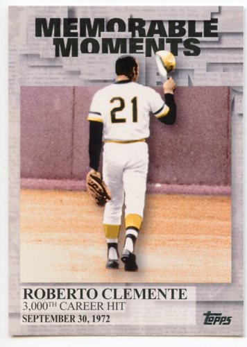 Photo of 2017 Topps Memorable Moments #MM13 Roberto Clemente