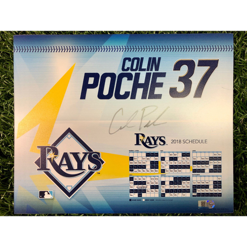 Photo of Team Issued Autographed Locker Tag: Colin Poche - 2018 Season