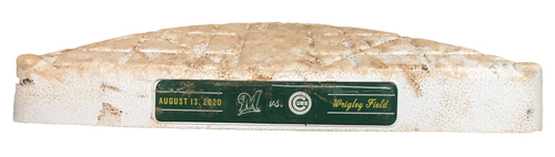 Photo of Game-Used 2nd Base -- Used in Innings 1 through 9 -- Brewers vs. Cubs -- 8/13/20