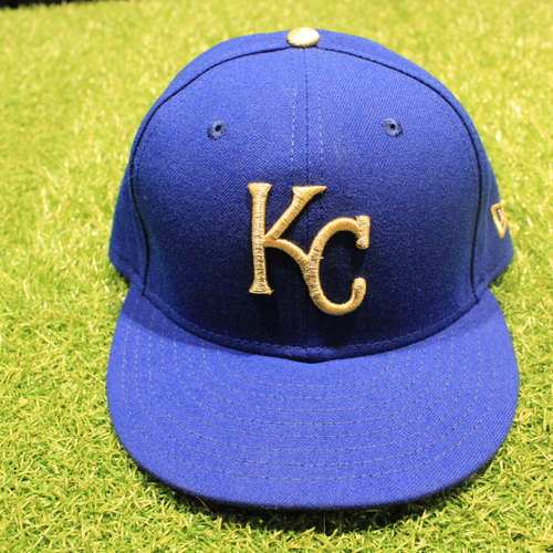 Photo of Game-Used 2020 Gold Hat: Franchy Cordero #19 (Size 7 3/8 - DET @ KC 9/25/20)