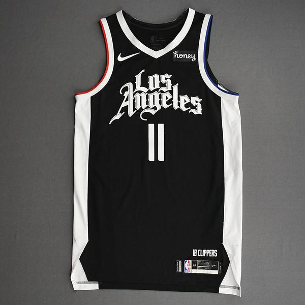 Image of Yogi Ferrell - Los Angeles Clippers - Game-Worn City Edition Jersey - Dressed, Did Not Play (DNP) - 2021 NBA Playoffs