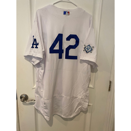 Photo of Bob Geren Game-Used Jackie Robinson Day Jersey - Size 48