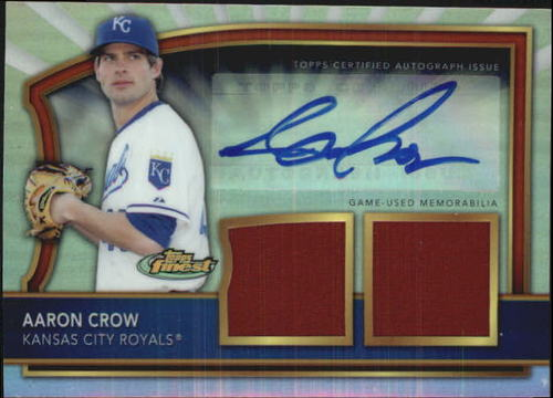 Photo of 2011 Finest Rookie Dual Relic Autographs Refractors #96 Aaron Crow