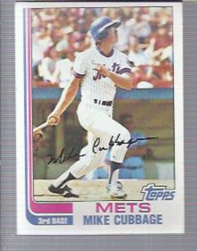 Photo of 1982 Topps #43 Mike Cubbage