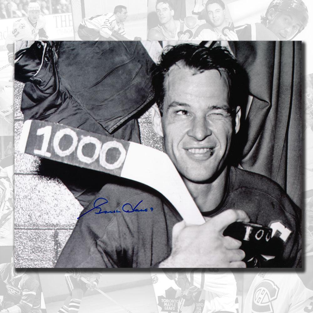 Gordie Howe Detroit Red Wings 1000 Points Autographed 8x10