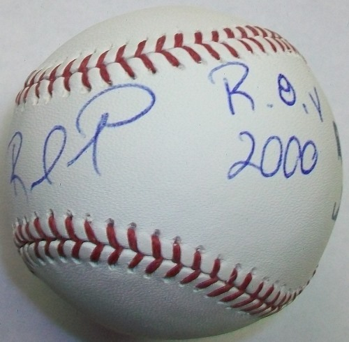 "Photo of Rafael Furcal ""ROY 2000"" Autographed Baseball"