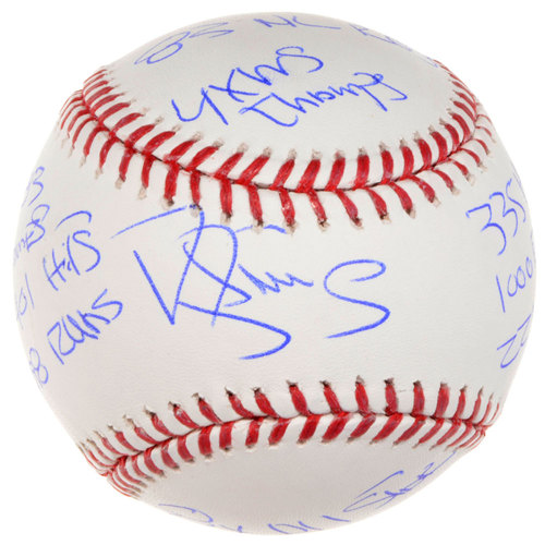 Photo of Darryl Strawberry New York Mets Autographed Baseball with Career Stats Inscriptions. #1 In a Limited Edition of 12