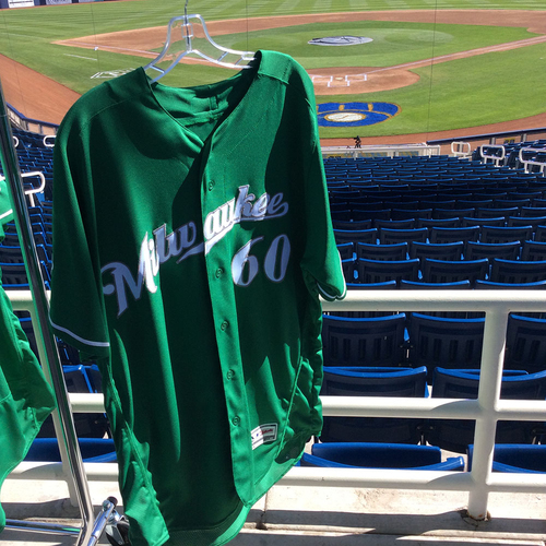 Photo of J.J. Hoover 2018 Team-Issued St. Patrick's Day Jersey