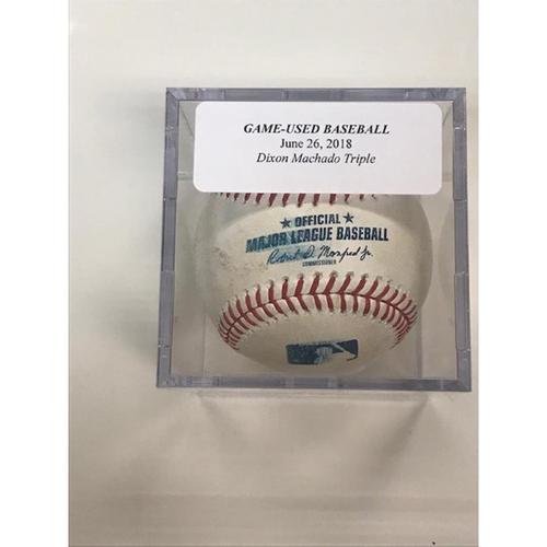 Photo of Game-Used Baseball: Dixon Machado Triple
