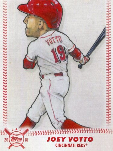 Photo of 2018 Topps Big League Star Caricature Reproductions #SCRJV Joey Votto
