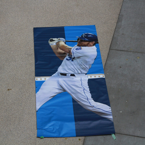 Photo of Large Team-Issued Banner: Brandon Moss