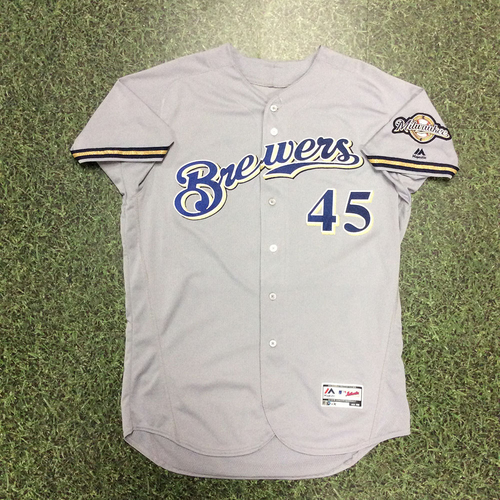 Photo of Jhoulys Chacin 2018 Game-Used Opening Day Jersey