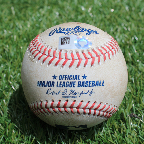 Photo of Game-Used Baseball: C.J. Cron 558th Career Hit and 337th Career RBI (MIN @ KC - 6/22/19)