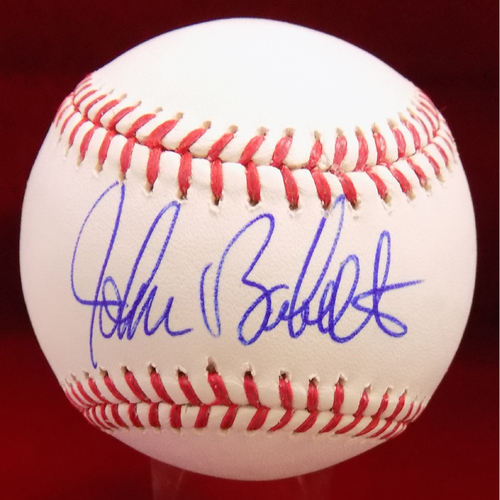 Photo of John Burkett Autographed Baseball