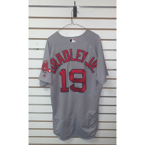 Photo of Jackie Bradley Jr Game Used May 30, 2017 Road Jersey - Home Run, 4 RBIs