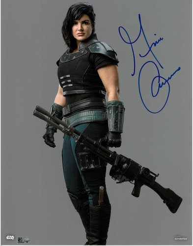 Gina Carano As Cara Dune 11X14 AUTOGRAPHED IN 'Blue' INK PHOTO