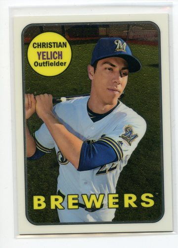 Photo of 2018 Topps Heritage Chrome #THC720 Christian Yelich 788/999