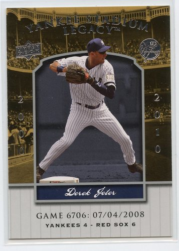 Photo of 2008 Upper Deck Yankee Stadium Legacy Collection #6706 Derek Jeter