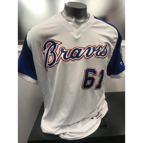 Max Fried MLB Authenticated Autographed Throwback 1974 Game Used and Autographed Jersey/Pants Combo (Pants are NOT MLB Authenticated)