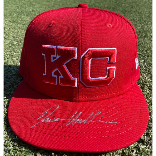 Photo of Autographed/Game-Used Monarchs Hat: Damon Hollins #39 (STL @ KC 9/22/20) - Size 7 1/2
