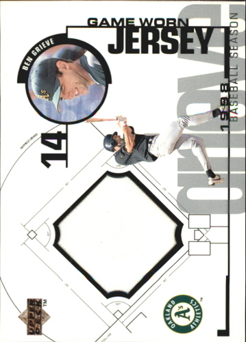 Photo of 1999 Upper Deck Game Jersey #BG Ben Grieve H1