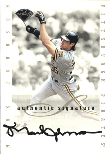 Photo of 1996 Leaf Signature Extended Autographs #92 Mark Johnson