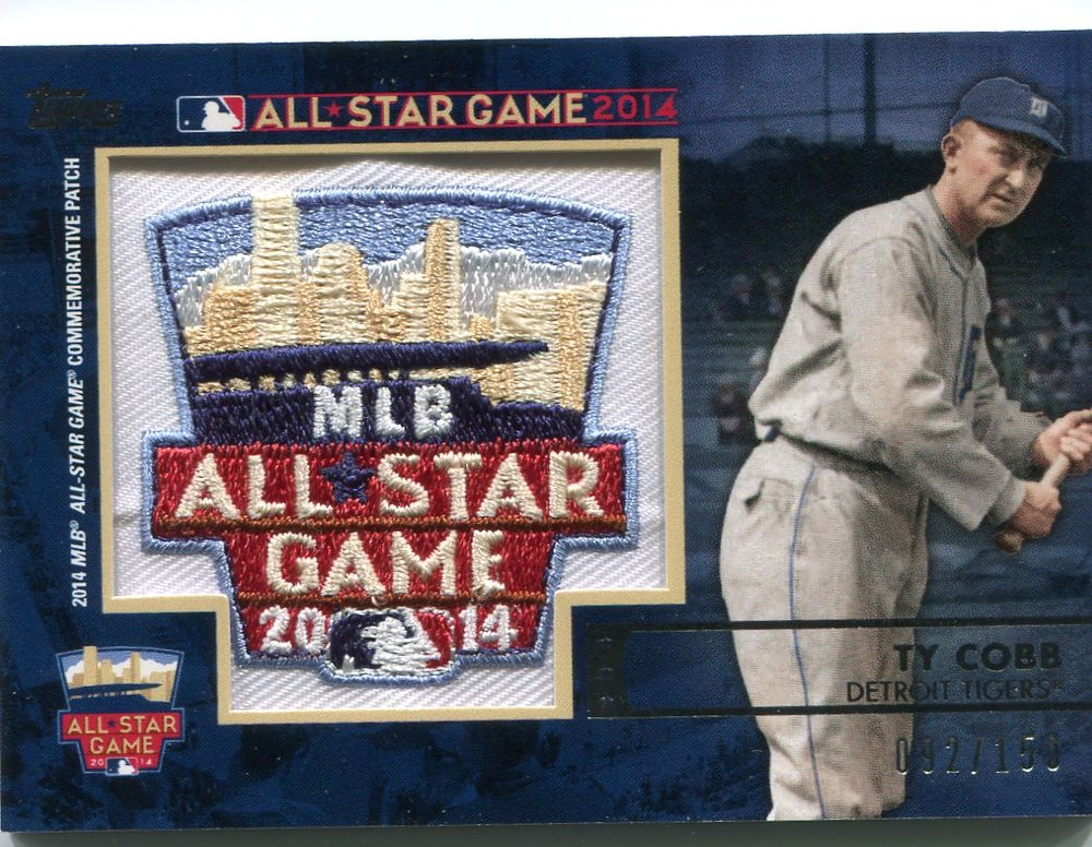 2014 Topps All-Star FanFest Patches #PC02 Ty Cobb 92/150