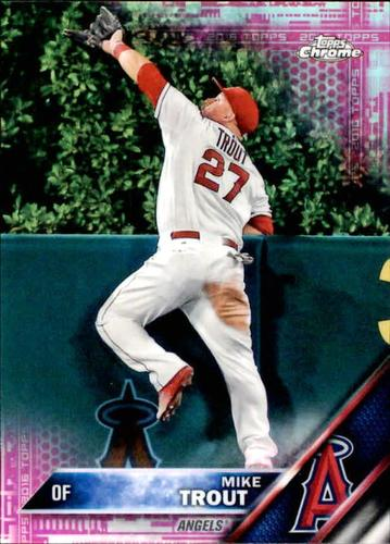 Photo of 2016 Topps Chrome Pink Refractors #1 Mike Trout