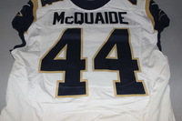 CRUCIAL CATCH - RAMS JAKE MCQUAIDE GAME WORN RAMS JERSEY (JANUARY 1, 2017)