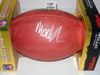 NFL - VIKINGS MACKENSIE ALEXANDER SIGNED AUTHENTIC FOOTBALL