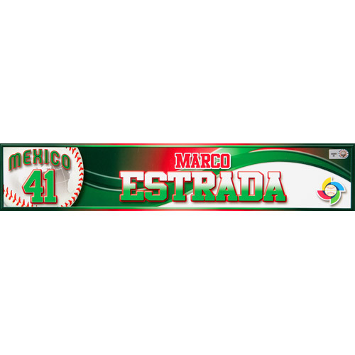 Photo of 2013 WBC: Mexico Game-Used Locker Name Plate - #41 Marco Estrada