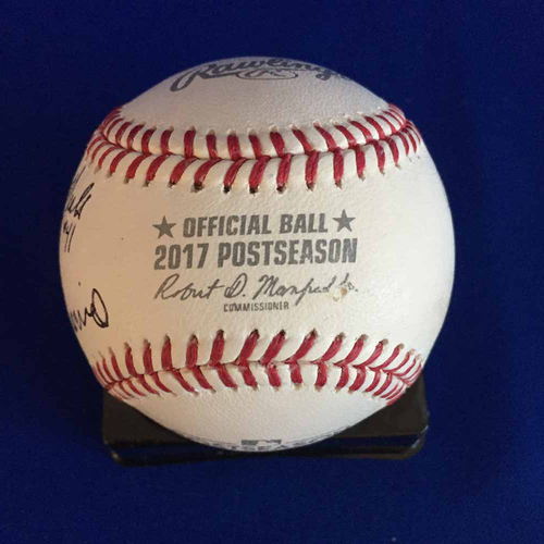Photo of UMPS CARE AUCTION: 2017 ALCS Crew Signed Baseball - Not MLB Authenticated