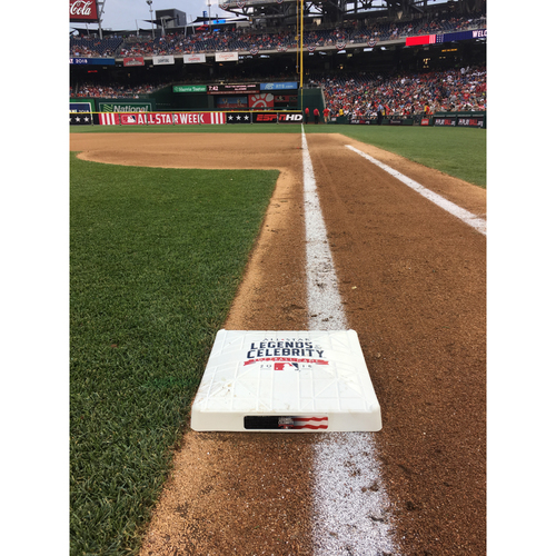 Photo of 2018 MLB All-Star Legends & Celebrity Softball Game - Game-Used 1st Base used innings 1-9
