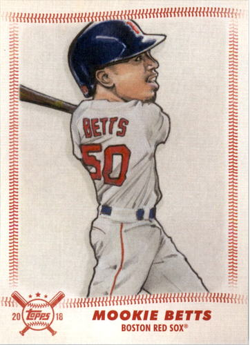 Photo of 2018 Topps Big League Star Caricature Reproductions #SCRMB Mookie Betts
